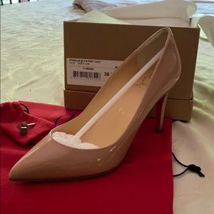 NEW Pigalle 85mm Christian Louboutin Nude Patent